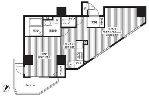 カスタリア初台 / 1LDK(45.77㎡) 部屋画像1