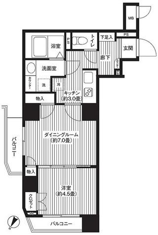 カスタリア初台 / 4階 部屋画像1