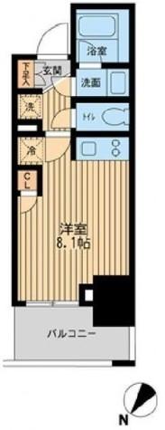 レジディア川崎 / Cタイプ(22.84㎡) 部屋画像1