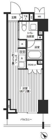 レジディア渋谷 / 6B 部屋画像1