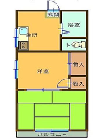 並木ハウス / 101 部屋画像1