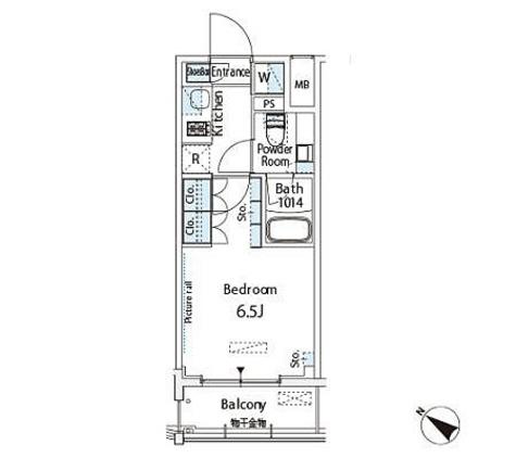 ベルファース西五反田 / B1タイプ 部屋画像1