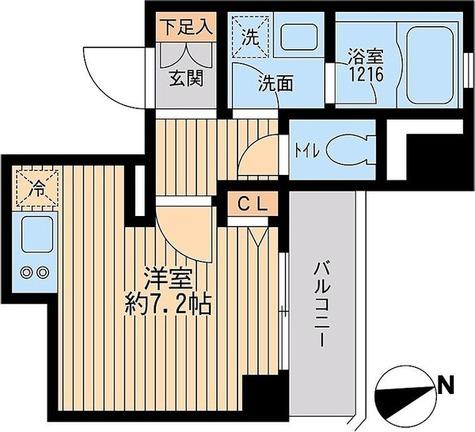 クリオ戸越銀座 弐番館 / 弐番館・Dタイプ 部屋画像1