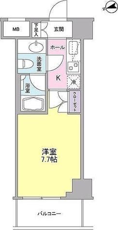 コンフォリア東中野DEUX / 1K(23.82㎡) 部屋画像1