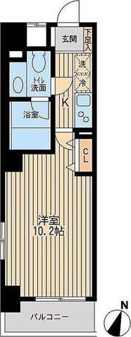ユニフォート目黒中町 / 29.68㎡タイプ 部屋画像1