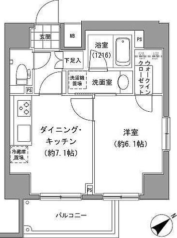 グランベル中落合 / 1DK(36.25㎡) 部屋画像1