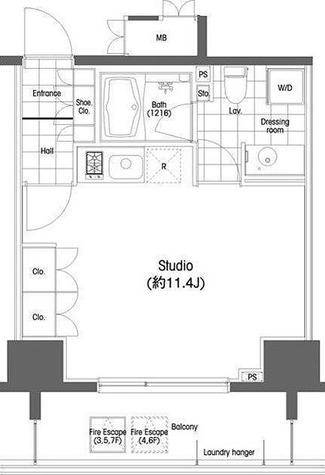 BPRレジデンス恵比寿 / ワンルーム(30.42㎡) 部屋画像1