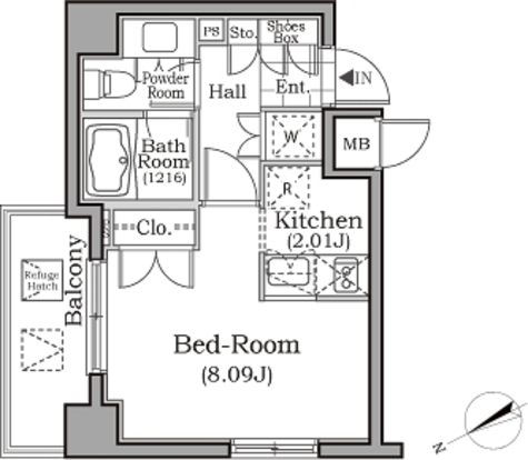 レジディア用賀 / 2階 部屋画像1