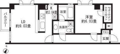 レジディア三軒茶屋Ⅱ / 2A 部屋画像1