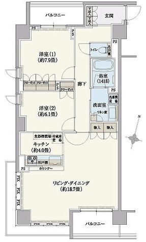 リージア経堂テラスガーデン / Hタイプ(87.22㎡) 部屋画像1
