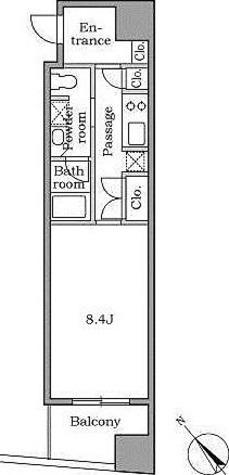 レジディア恵比寿Ⅱ / 1階 部屋画像1