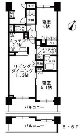 シャンピアグランデ深沢 / 6F 部屋画像1