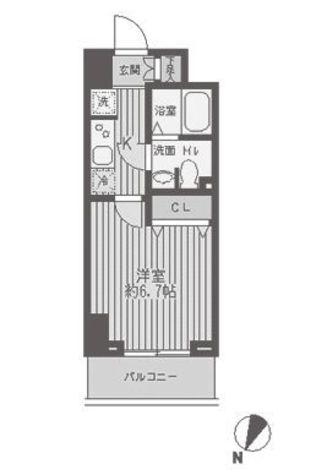 レジディア蒲田 / 2G 部屋画像1