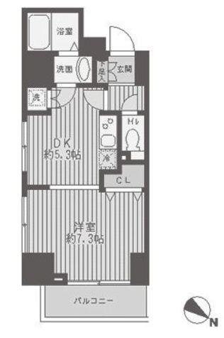 レジディア蒲田 / 8階 部屋画像1