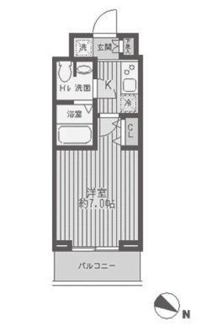 レジディア蒲田 / 15階 部屋画像1