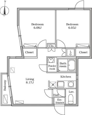 レジディア池上 / B-4A 部屋画像1