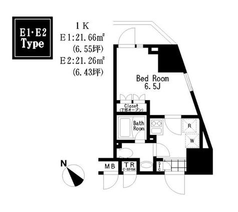 レジディア大森Ⅲ / 7E 部屋画像1