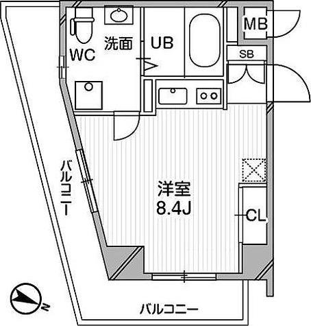 リエス千葉新宿 / 2階 部屋画像1