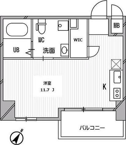 リエス千葉新宿 / ワンルーム(27.65㎡) 部屋画像1