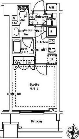 パークアクシス御茶ノ水ステージ / 1K(28.06㎡) 部屋画像1