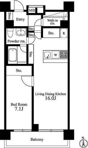 イプセ新宿若松町 / 1LDK(56.56㎡) 部屋画像1