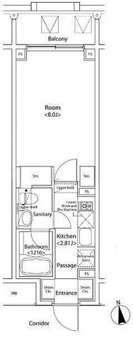 イプセ新宿若松町 / 1K(26.75㎡) 部屋画像1