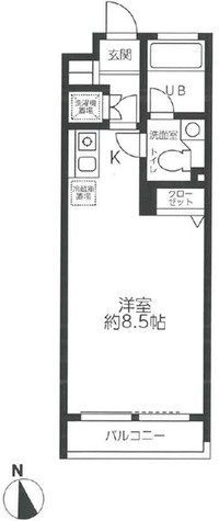 レジディア笹塚 / 5階 部屋画像1