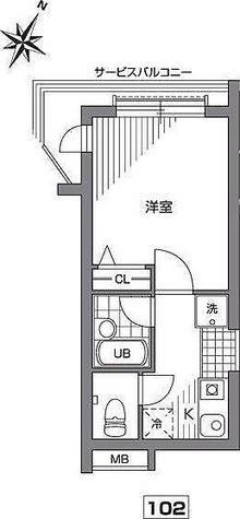 目黒 8分マンション / Eタイプ(18.24㎡) 部屋画像1