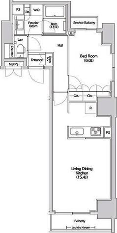 Hluwa芝公園 / 1LDK(53.14㎡) 部屋画像1