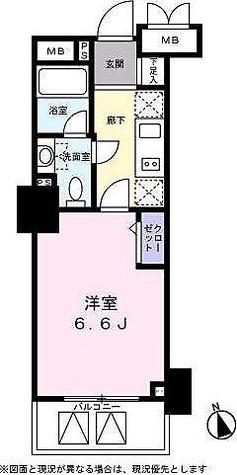 ベルファース高輪桂坂 / 1K(21.50㎡) 部屋画像1