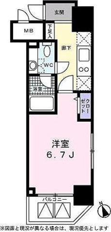 ベルファース高輪桂坂 / 1K(22.84㎡) 部屋画像1