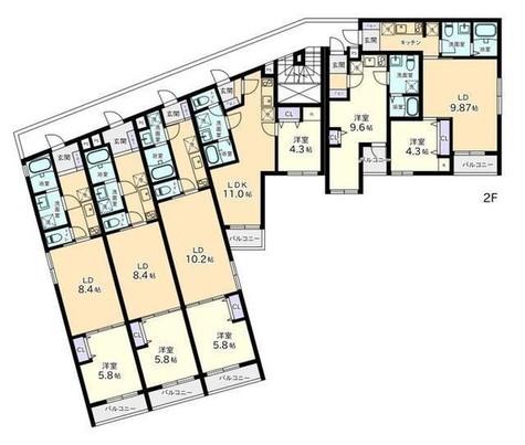 ヴィラージュ白金台 / 2階 部屋画像1