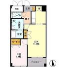 ベイコート東品川 / 1LDK(42.13㎡) 部屋画像1