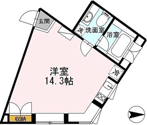 カスタリア恵比寿(旧イプセ恵比寿) / ワンルーム(33.81㎡) 部屋画像1