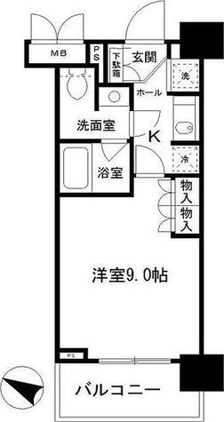 パークアクシス千葉新町 / 1K(28.38㎡) 部屋画像1
