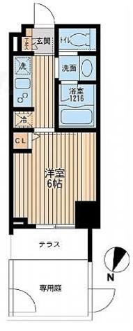 クリオ上野毛ラ・モード / 1階 部屋画像1