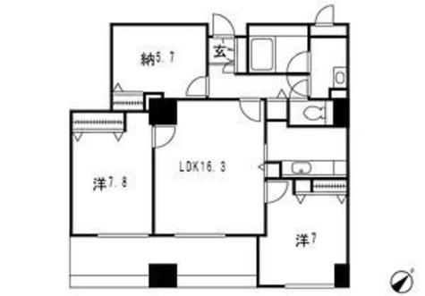 ドゥーエ横浜駅前(旧ステイシス横浜) / Pタイプ 部屋画像1
