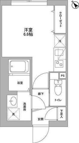NOZOMIO武蔵小山 / E1R21.70㎡-3 部屋画像1