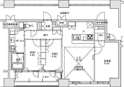 正金アパートメント入船 / 3LDK(74.02㎡) 部屋画像1
