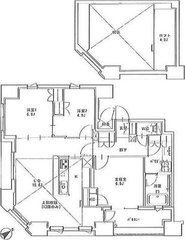 正金アパートメント入船 / 3LDK(80.25㎡) 部屋画像1