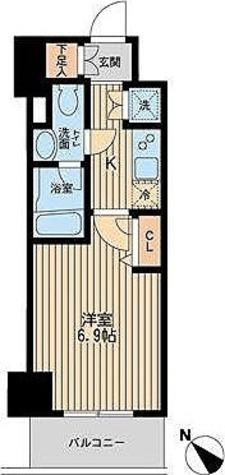 レジディア蒲田Ⅲ / Dタイプ 部屋画像1
