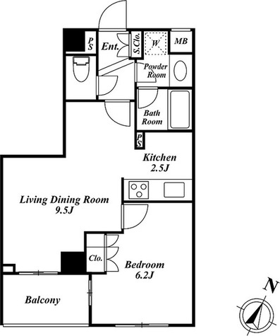 スペーシア三軒茶屋弐番館 / 2階 部屋画像1