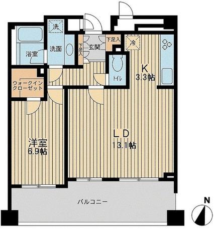 アーデン駒沢パークフロント / Cタイプ 部屋画像1