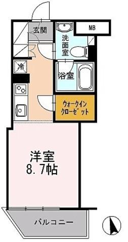 カスタリア目黒長者丸(旧イプセ目黒) / 1階 部屋画像1