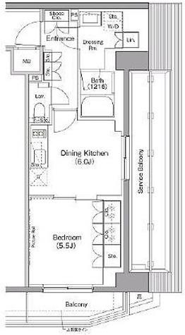ザ・パークハビオ三軒茶屋テラス / 1DK(34.25㎡) 部屋画像1