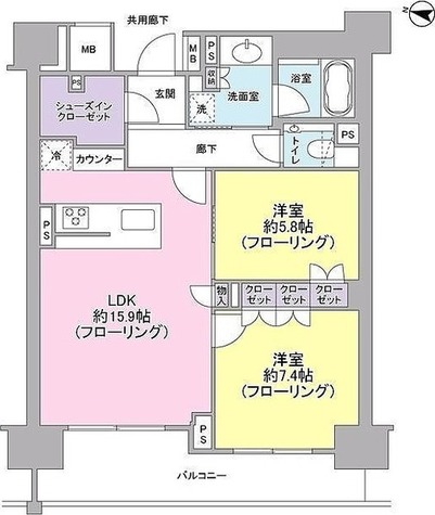 ブランズ渋谷常盤松 / 2LDK(70.19㎡) 部屋画像1