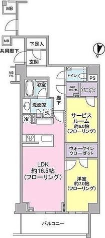 ブランズ渋谷常盤松 / 2LDK(76.89㎡) 部屋画像1