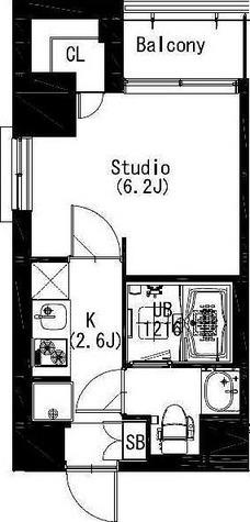 エスティメゾン戸越 / 1K22.42㎡ 部屋画像1