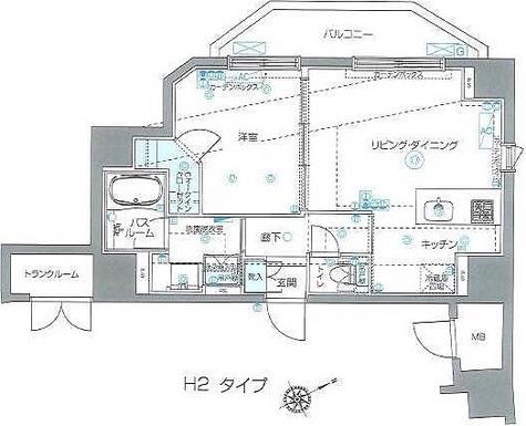 ZOOM Ebisu(ズーム恵比寿) / 1LDK(43.32㎡) 部屋画像1