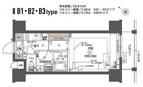 ZOOM西五反田 / Bタイプ(28.61㎡) 部屋画像1